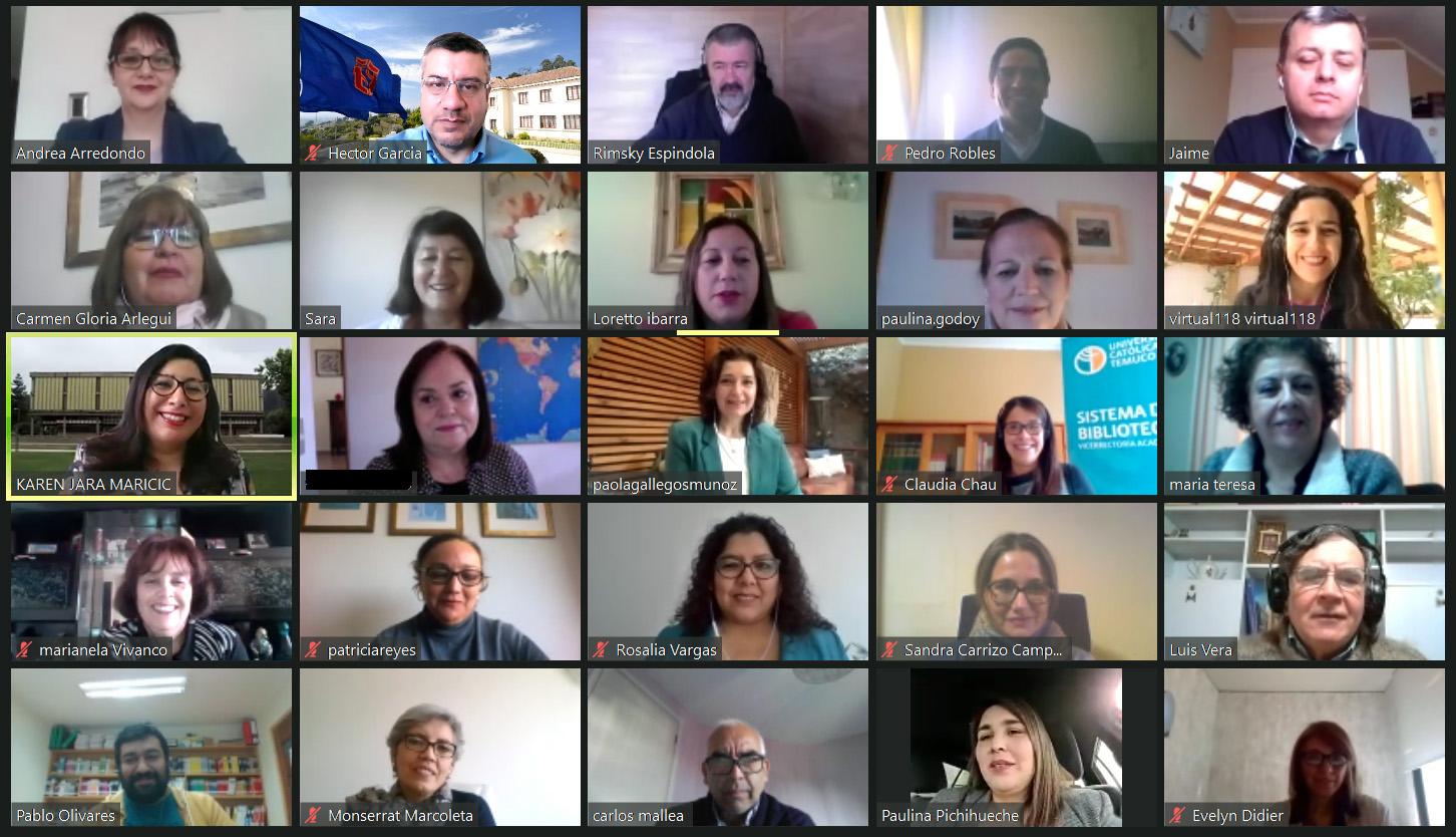 Participantes de la Primera Reunión Plenaria CABID modalidad online